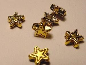 Stern 6mm goldfarben 10 Stück
