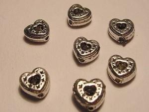 Herz 7mm silberfarben 10 Stück