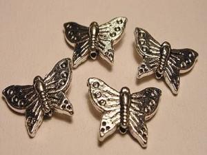 Schmetterling 12x16mm silberfarben